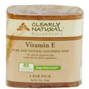 Clearly Natural Glycerine Bar Soaps Vitamin E, Vitamin E 3 bars by Clearly Natural