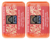 One With Nature Grapefruit Guava Soap (Pack of 2) With Dead Sea Minerals, Argan Oil and Shea Butter, 210ml Each
