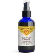 120ml Jojoba Oil, 100% Pure and Natural, Unrefined, Organic, Golden Oil Moisturiser for Skin and Hair - Includes Pump & Dropper