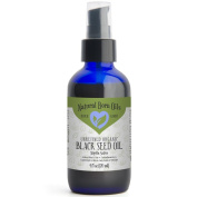 120ml Black Seed Oil, aka Black Cumin, 100% Pure and Natural, Cold Pressed, Unrefined, Organic, For Luxuriously Soft Skin and Hair - Includes Pump & Dropper