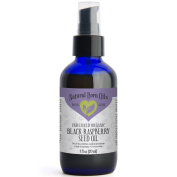 120ml Black Raspberry Seed Oil, 100% Pure and Natural, Cold-Pressed, Unrefined, Organic, for Healthy Skin and Hair - Includes Pump & Dropper