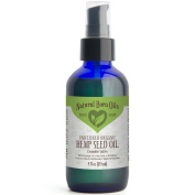 120ml Hemp Seed Oil, 100% Pure and Natural, Organic, Moisturiser for Skin and Hair with Omega 3 and 6 Fatty Acids - Includes Pump & Dropper