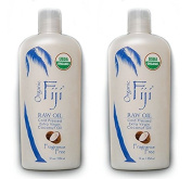 Organic Fiji Fragrance Free Raw Organic Coconut Oil (Pack of 2) made with USDA Certified Organic Cold Pressed Coconut Oil, for Sensitive and Tender Skin, 350ml