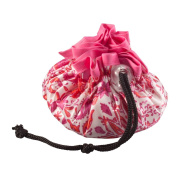 Shower Cap Emily and Sage Satin With Drawstring Pouch Pretty Prints