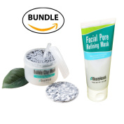 BUNDLE | KBeautyNaturals Carbonated Bubble Clay Mask 100ml + Facial Pore Refining Mask 100ml | Great solution for removing Sceptical and Cleansing your Facial. Made In Korea