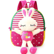 BSJY 3D Doll Kids Backpack Baby Boys Girls Plush Backpack with Detachable Toy
