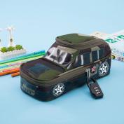 School Student Pencil Pen Case Bag Password Code Lock Box Creative 3D Large Car Model Shape Camouflage Purse for Kids Boys Gift