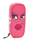 PENCIL BAG - INVICTA Lip Face Plain - Internal Organiser Pink Lt
