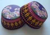 50 pcs Orient Small Flowers Floral Liners Cupcake Liners Liner for Standard Size Cupcakes