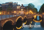 Amsterdam, North Holland, Capital of the Netherlands, Bridge, Souvenir Magnet 2 x 3 Fridge Photo Magnet