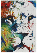 Colourful Lion counted cross stitch kits 150x218stitch 37x49cm lion counted cross stitch kits