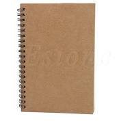 Rose & J Retro Spiral Coil Sketch paper Notebook