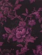 Victorian Trading Co Building Schools for Children Purple & Black Roses Sketchbook