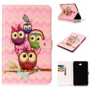 EC-touch Simple Beautiful Colourful Flower [Magnetic] Style PU Leather Case Wallet Flip Stand [Flap Closure] Cover for Samsung Galaxy Tablet Series