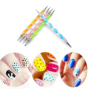 Yamu 5 Double Ended Ball Stylus DIY Nail Art kit Clay Paper and Metal Embossing Tool
