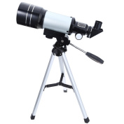 150X Portable Terrestrial Astronomical Refractor, 300x70mm Tabletop Telescope with Tripod and Eyepiece, Space Astronomy Telescope for Kids Beginners Sky Star Gazing