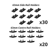63mm Bed Slat Holders Kits Bundles for Metal Beds 30 Sides And 20 Centres