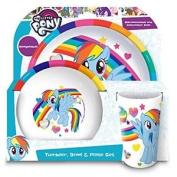 My Little Pony Tumbler, Bowl, Plate Set, Multi, Set Of 3 - Bowl Dinner Rainbow