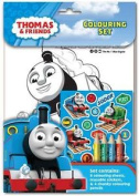 Thomas And Friends Colouring Set Kids Activity Stickers Christmas