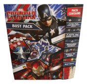 Captain America Stationery Set, A5 Notebooks, Pencil Case, Colouring