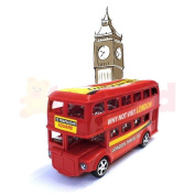 London Double Decker Pull Back Bus Boys Toy Birthday Party Bag Filler Cars