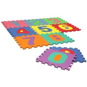 Charles Bentley Kids Soft Eva Foam Number Interlocking Activity Play Mats