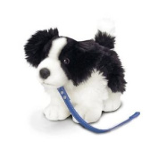 30cm Standing Border Collie On Lead - Keel Soft Boarder Puppy Dog Toy Cute New