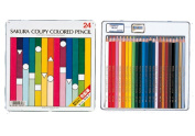 "Sakura Cooper colour pencil 24 colours in""standard"""
