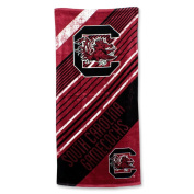 The Northwest Company NCAA South Carolina Fighting Gamecocks Diagonal Beach Towel, 70cm by 150cm