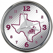 NCAA Texas A & M University Col-TAM-2238Chrome Clock - State of Mind Style, Multi, One Size