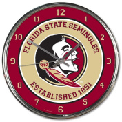 Florida State Seminoles NCAA 30cm Round Chrome Plated Wall Clock