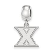NCAA Sterling Silver Xavier University Small Dangle Bead Charm