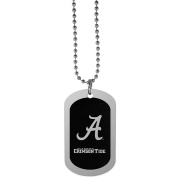 NCAA Alabama Crimson Tide Chrome Tag Necklace, 70cm