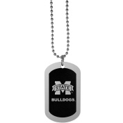 NCAA Mississippi State Bulldogs Chrome Tag Necklace, 70cm