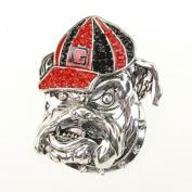 Georgia Bulldogs Crystal Logo Stretch Ring