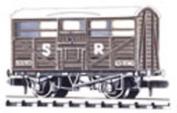 Cattle Waggon - British Railways Livery - Peco Nr-45b(b) - .