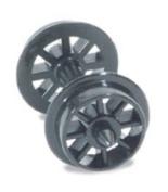 Peco Nr 101 N Scale Spoked Wheels On Axles Hardlon Mouldings