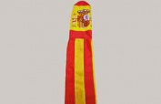 Spain Spanish Flag With Crest Windsock - 100% Nylon - 1.5m Or 150cm Long