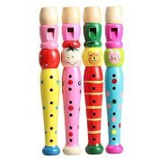 ACE Wooden Plastic Kid Piccolo Flute Musical Instrument Early Education Toy