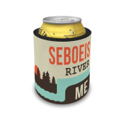 Slap Can Coolers USA Rivers Seboeis River - Maine Insulator Sleeve Covers Neonblond