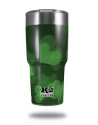 Skin Decal Wrap for K2 Element Tumbler 890ml - Bokeh Hearts Green (TUMBLER NOT INCLUDED) by WraptorSkinz