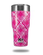 Skin Decal Wrap for K2 Element Tumbler 890ml - Wavey Hot Pink (Fuchsia) (TUMBLER NOT INCLUDED) by WraptorSkinz