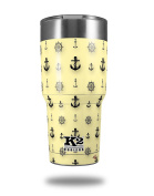 Skin Decal Wrap for K2 Element Tumbler 890ml - Nautical Anchors Away 02 Yellow Sunshine (TUMBLER NOT INCLUDED) by WraptorSkinz
