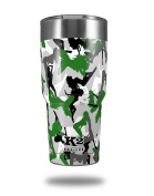 Skin Decal Wrap for K2 Element Tumbler 890ml - Sexy Girl Silhouette Camo Green (TUMBLER NOT INCLUDED) by WraptorSkinz