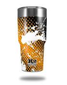 Skin Decal Wrap for K2 Element Tumbler 890ml - Halftone Splatter White Orange (TUMBLER NOT INCLUDED) by WraptorSkinz