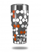 Skin Decal Wrap for K2 Element Tumbler 890ml - Locknodes 04 Burnt Orange (TUMBLER NOT INCLUDED) by WraptorSkinz