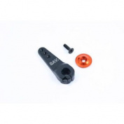 Fastrax 23t Jumbo Black Alum Single Servo Horn (sanwa) - Fast326b