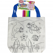 Children's Tote Shopping Travel Bag & Colouring Set