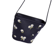 squarex Exquisite Fashion Women Embroidery Chrysanthemum chain shoulder diagonal package