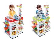 Vinsani Kids Pretend Play Supermarket Shop Toys Set Includes Trolley - 2 Colours